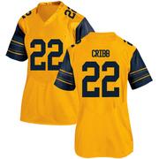 Game Women's Zane Cribb California Golden Bears Gold Alternate Football College Jersey